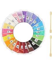 Mica Powder Pure 24 Color, ss shovan Epoxy Resin Dye Powder Pigments Natural Soap Dye Skin Safe for Epoxy, DIY Soap, Nail Polish, Makeup, Resin Jewelry and Bath Bombs