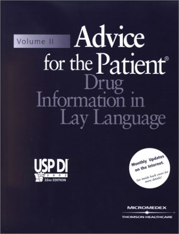 Usp Di: Advice for the Patient (USP DI: v.2 Advice for the Patient)