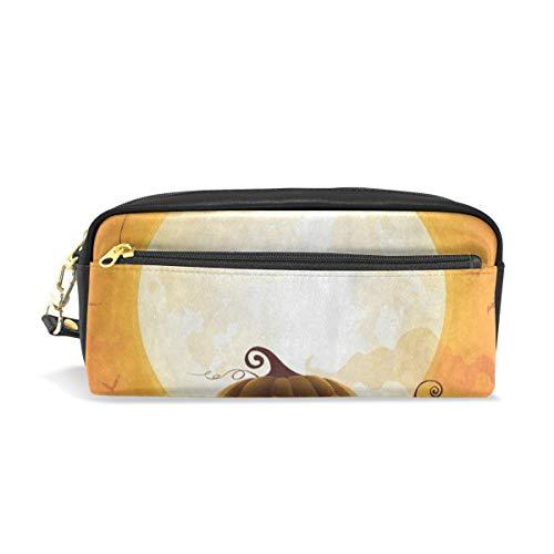 (Pencil Case/Makeup Bags Halloween Pumpkin Moon Night Bat Big Capacity Portable Pencil Bag for College)