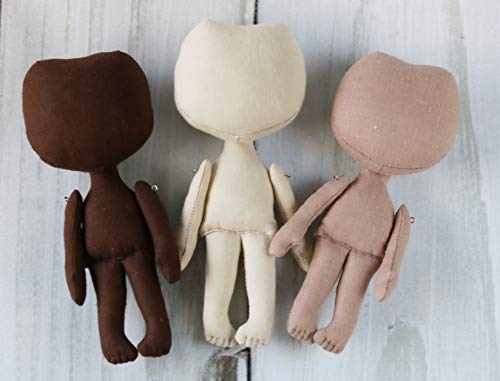 Blank doll Textile doll Empty doll Craft doll body Doll body Blank doll body handmade Doll supply Soft doll from fabric Making doll from DollCotton