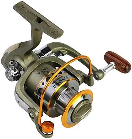 HNXCBH 5.5: 1 de Agua Salada Pesca Spinning Wheel Carrete de Alta Velocidad Carrete de la