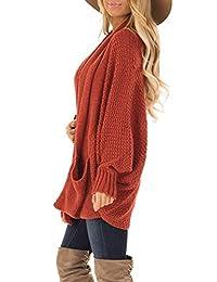 Acelitt Dolman suéter de punto de manga larga con frente abierto para mujer
