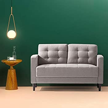 Amazon Com Zinus Benton Mid Century Upholstered 52 8 Inch