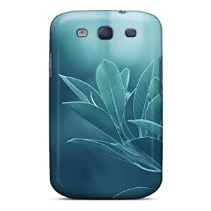 Waterdrop Snap-on Green Leaves Case For Galaxy S3