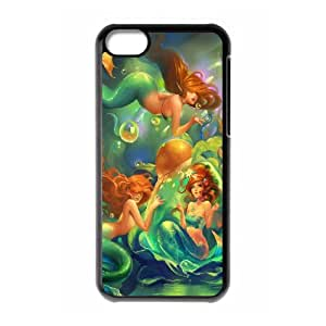 Iphone 5C Little mermaid Phone Back Case Personalized Art Print Design Hard Shell Protection DF065943
