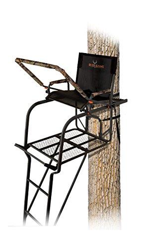 BIG GAME Hunter HD 1.5 Treestand - Adjustable Shooting Rail, Extra Wide/Deep Platform for Wide Stances, Flex Tek Comfort Seating 18.6