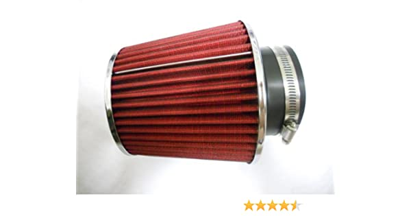 """3.5 Inches 89 mm Cold Air Intake Cone Truck Filter 3.5/"""" New RED Volkswagen"""