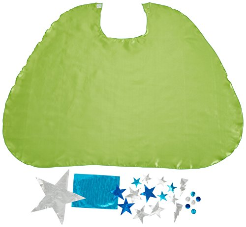 [Superfly Kids Design Your Own Cape Kit, Lime, Lime] (Make Your Own Superhero Costume Kit)