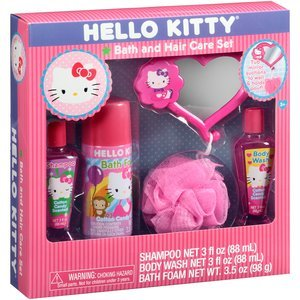 Hello Kitty Bath And Hair Care Set, Includes Bath Foam, Shampoo, Body Wash