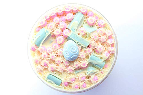 Spring Taffy - Scented Taffy Slime with Foam Beads, Java Chips, and Charm from Samantha's Slime Shop