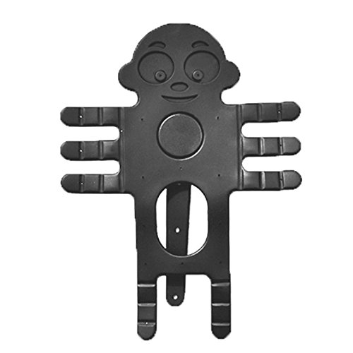 """Car phone holder - SODIAL(R) Carton Monkey Mobile Phone Car Holder / Mount - 360 Degree Rotation Car Air Vent Holder - Universal Silicone GPS Windshield Suction Cup Stents - For 3.5"""" to 5.5"""" black"""