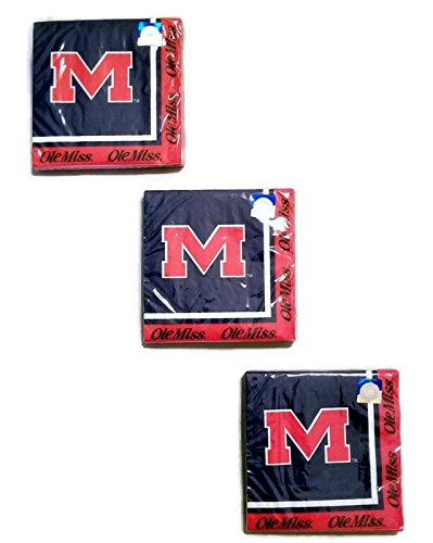 Ole Miss Rebels Party Bundle Lunch Napkins - Lunch Miss