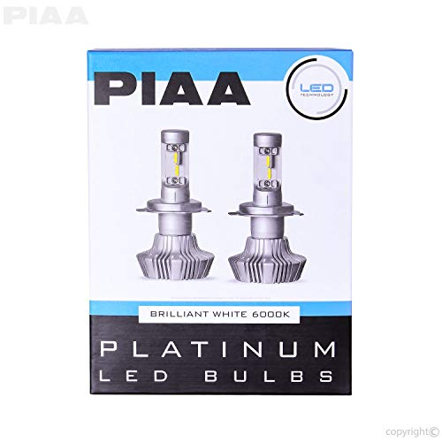 PIAA 26-17311 H11 Platinum LED Bulb Kit-4000Lm, White 6000K, 25W-2 Yr - Piaa Hid Lights