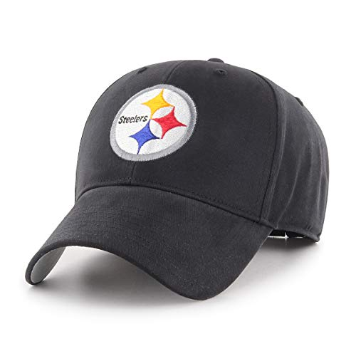 NFL Pittsburgh Steelers Children Cinch Ots All-Star MVP Adjustable Hat, Kids, Black