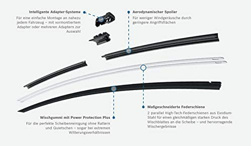 Bosch A929s H772 Komplettsatz Vorne Hinten Scheibenwischer WischblÄtter Heckscheibenwischer Auto