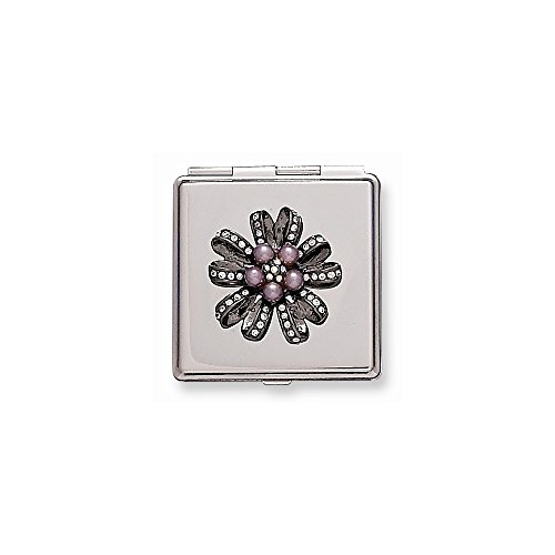 (Silver-tone with Swarovski Crystal Compact)
