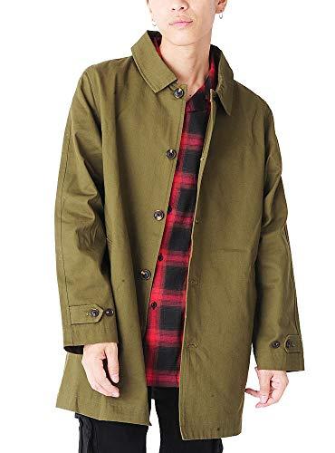 (ベストマート) BestMart カジュアル ビジネス 兼用 ツイル ステンカラー コート メンズ シングル 秋 春 ロング 619319