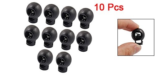 uxcell Round Toggle Spring Loaded Stop Cord Locks End 10 Pcs