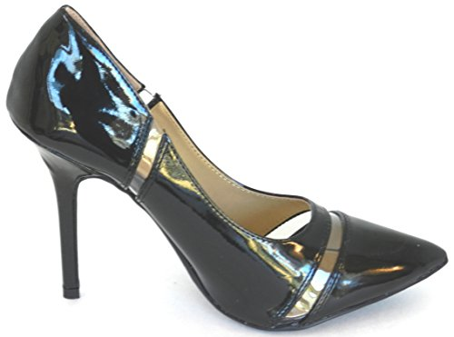Womens New Latest Fashion Pump Pointy Toe Evening Kitten Heel Shoes New Without Box Black WVwnqOhu