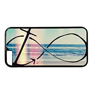 """Beach Background Infinity Anchor Theme Case for iPhone 6 Plus (5.5"""") PC Material Black by mcsharks"""