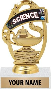 STEM Trophy Awards - 5'' Custom Science Fair Scholastic Trophies 50 Pack Prime