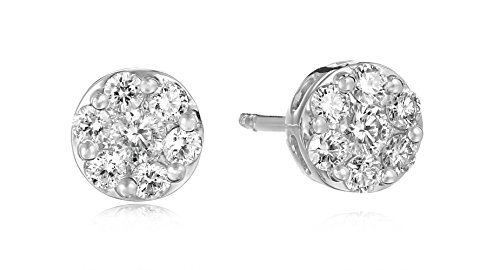 White Diamond Clarity Cluster Earrings