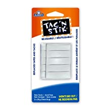 Elmer's Tac'N Stick Reusable Adhesive Twin Pack, Total 56G, 2-Ounce, White (6155061625)