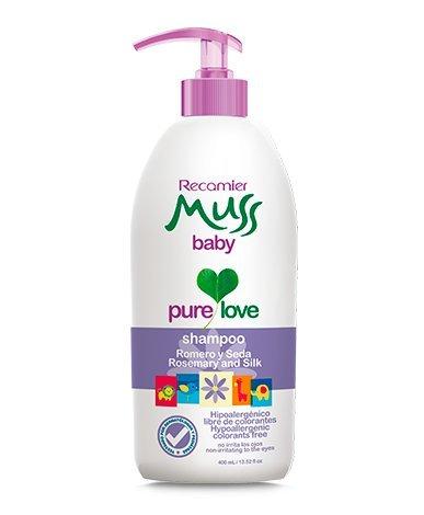 Amazon.com: Muss shampoo baby, Romero, Seda, hipoalergenico, no irrita los ojos. hypoallergenic, tear free. 13.52 Fl. Oz: Beauty