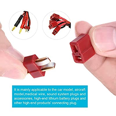 25 Pair Ultra T Plug Connectors Deans Style Male and Female Connectors for RC Li-Po Battery with 50pcs Shrink Tubing: Car Electronics