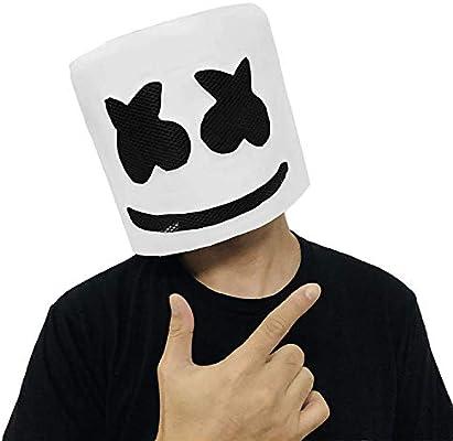 URMOSTIN Máscara De Marshmallow DJ, Látex Casco La Cabeza ...