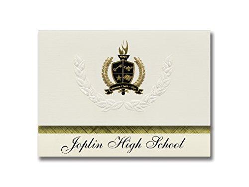 Signature Announcements Joplin High School (Joplin, MO) Graduation Announcements, Presidential style, Basic package of 25 with Gold & Black Metallic Foil - Joplin Styles Mo