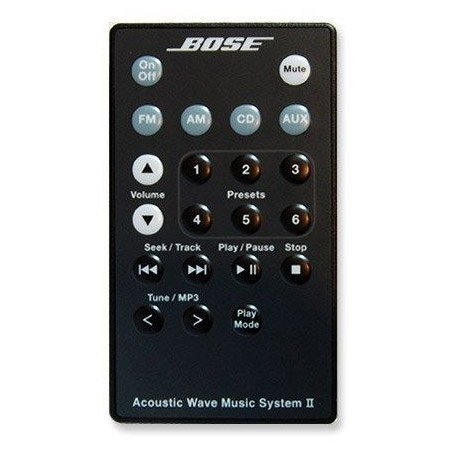 Bose Acoustic Wave Music System II Remote - Black by Bose