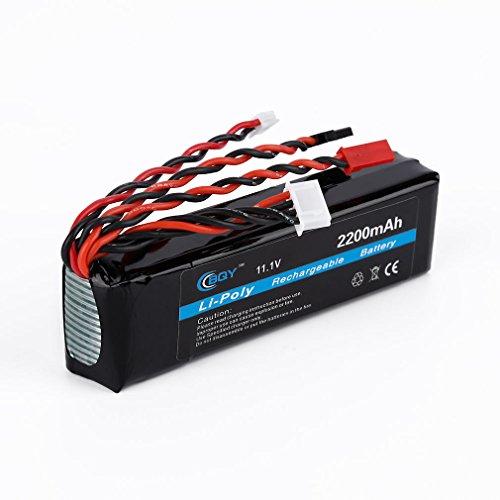 11.1V 2200mAh 8C 3S Li-Poly Li-Po RC Battery Pack for JR FUTABA Flysky FS-TH9X Transmitter