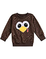 GOOCHEER Thanksgiving Toddler Baby Clothes Long Sleeve Turkey Toddler Baby Boy Girl Thanksgiving Sweatshirt Top Shirt Outfit