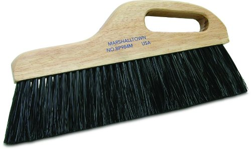 Concrete Broom - MARSHALLTOWN The Premier Line BP984M 12-Inch Black Poly Finishing Broom-Medium