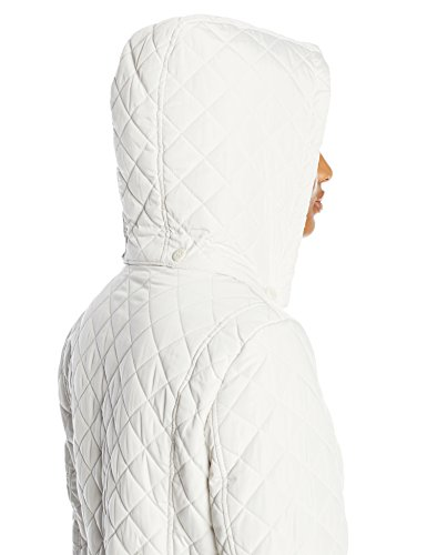 Calvin Klein Women's Classic Quilted Jacket with Side Tabs, Pearl, Small