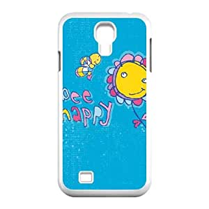 Samsung Galaxy S4 9500 Cell Phone Case White Bee Happy OJ451952