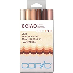 copic marker ciao markers skin 6 pack - Skin Color Markers