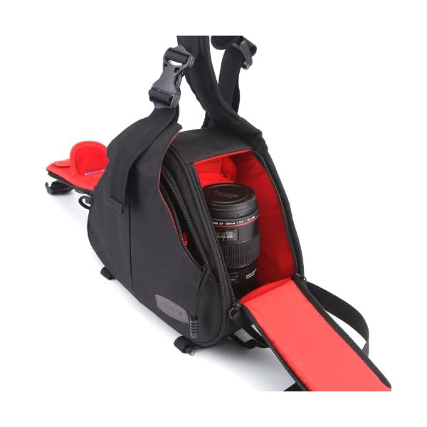 Caden K1 Waterproof Fashion Casual DSLR Camera Bag Case Messenger Shoulder Bag per Canon Nikon Sony (Nero) 6 spesavip