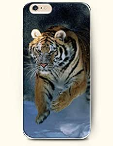 SevenArc Phone Case for iPhone 6 Plus 5.5 Inches with the Design of Tiger Running in the Snowfield