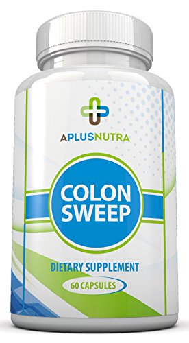 Colon Sweep, Dietary Supplement - Advanced Formula - Helps Digestive System Detox, Best Diet, Colon Cleanse, Constipation Relief, Helps Weight Loss - Safe & Gentle - by A Plus Nutra