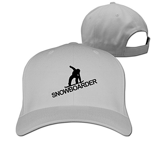 SNOWBOARDING Snowboarders Cotton Baseball Cap Peaked Hat Adjustable For Unisex Ash