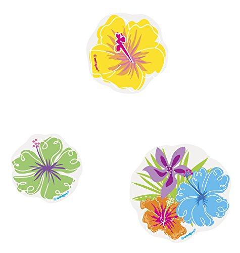 Paper Confetti Cut Out Hibiscus Luau Decorations, - Decorations Luau Out Cut