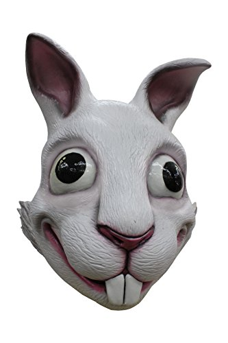 White Rabbit Adult Latex Mask Vivid Cartoon Anime Cosplay Costume Accessory (Latex Rabbit Mask)