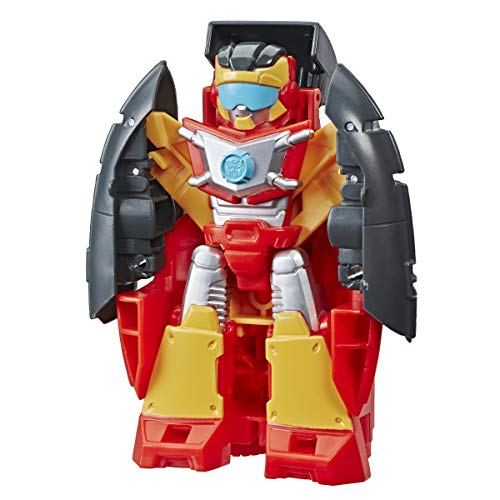 Playskool Heroes Transformers Rescue Bots Academy Hot Shot Converting Toy Robot, 4.5-Inch Action Figure, Toys for Kids Ages 3 and Up