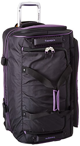 Travelpro Tpro Bold 2.0 26 Inch Drop Bottom Rolling Duffel, Black/Purple, One Size by Travelpro