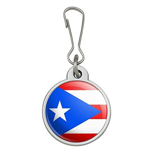 Puerto Rico Country Flag Jacket Handbag Purse Luggage Backpack Zipper Pull Charm
