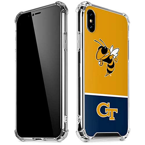 save off f7d0b a3768 Amazon.com: Skinit Georgia Tech Yellow Jackets iPhone XR Clear Case ...