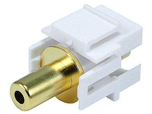 Monoprice Keystone Jack - 3.5mm Stereo, Flush Type (White)