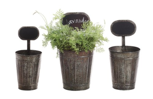 Tin Planters with Chalkboard Labels